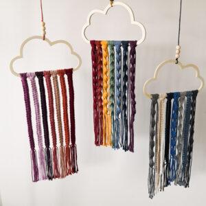Makramee DIY-Set Regenbogenwolke