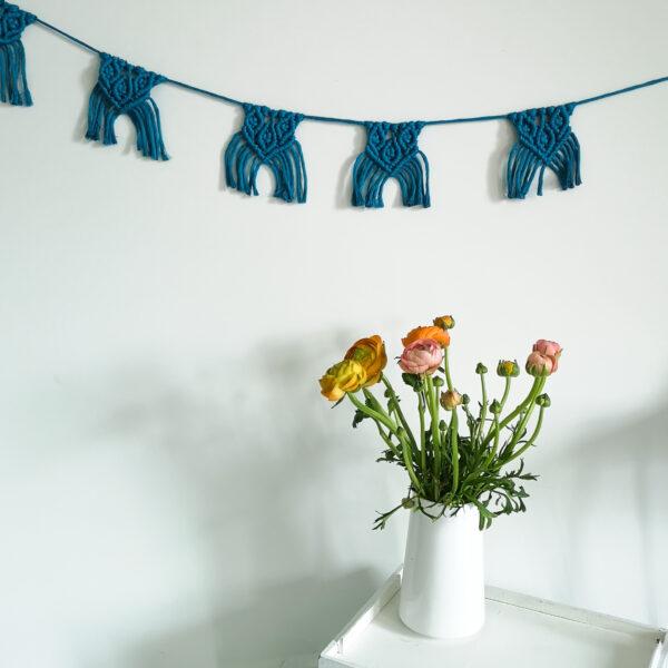DIY-Set Makramee Wimpelkette 4